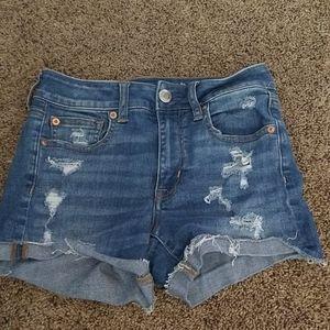American eagle shorts #rippedshorts#denim